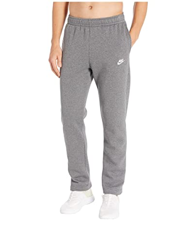 Nike NSW Club Pants Open Hem (Charcoal Heather/Anthracite/White) Men