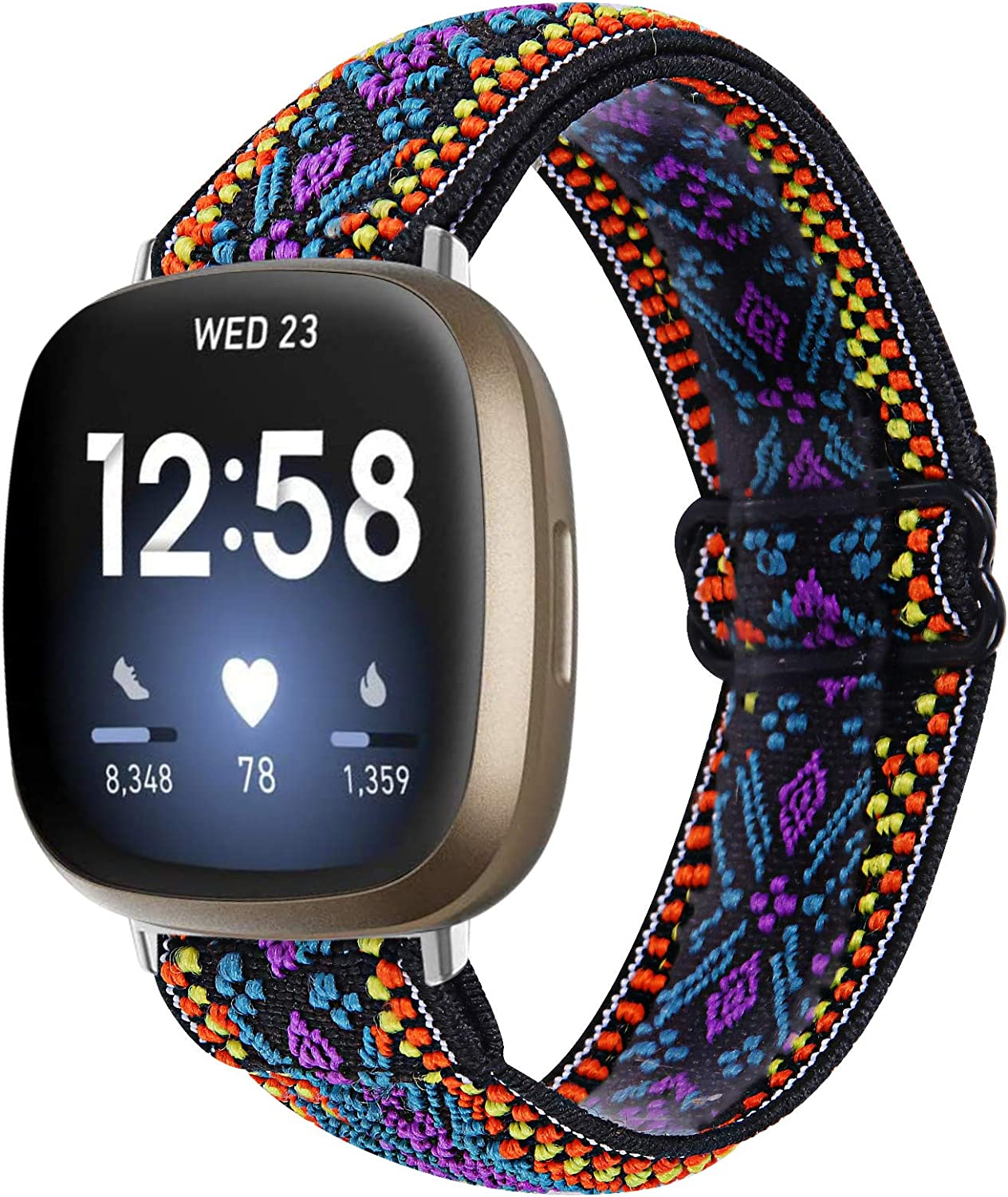 TWBOCV Beauty products Slim Band for Fitbit Versa Ba Pattern Stretch Handmade Limited price 3