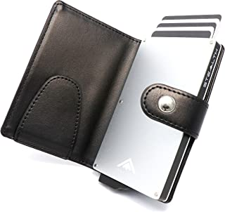 STEALTH Wallet RFID Card Holder - Minimalist NFC Blocking Pop Up Wallets - Slim Lightweight Cards Holders with Contactless...