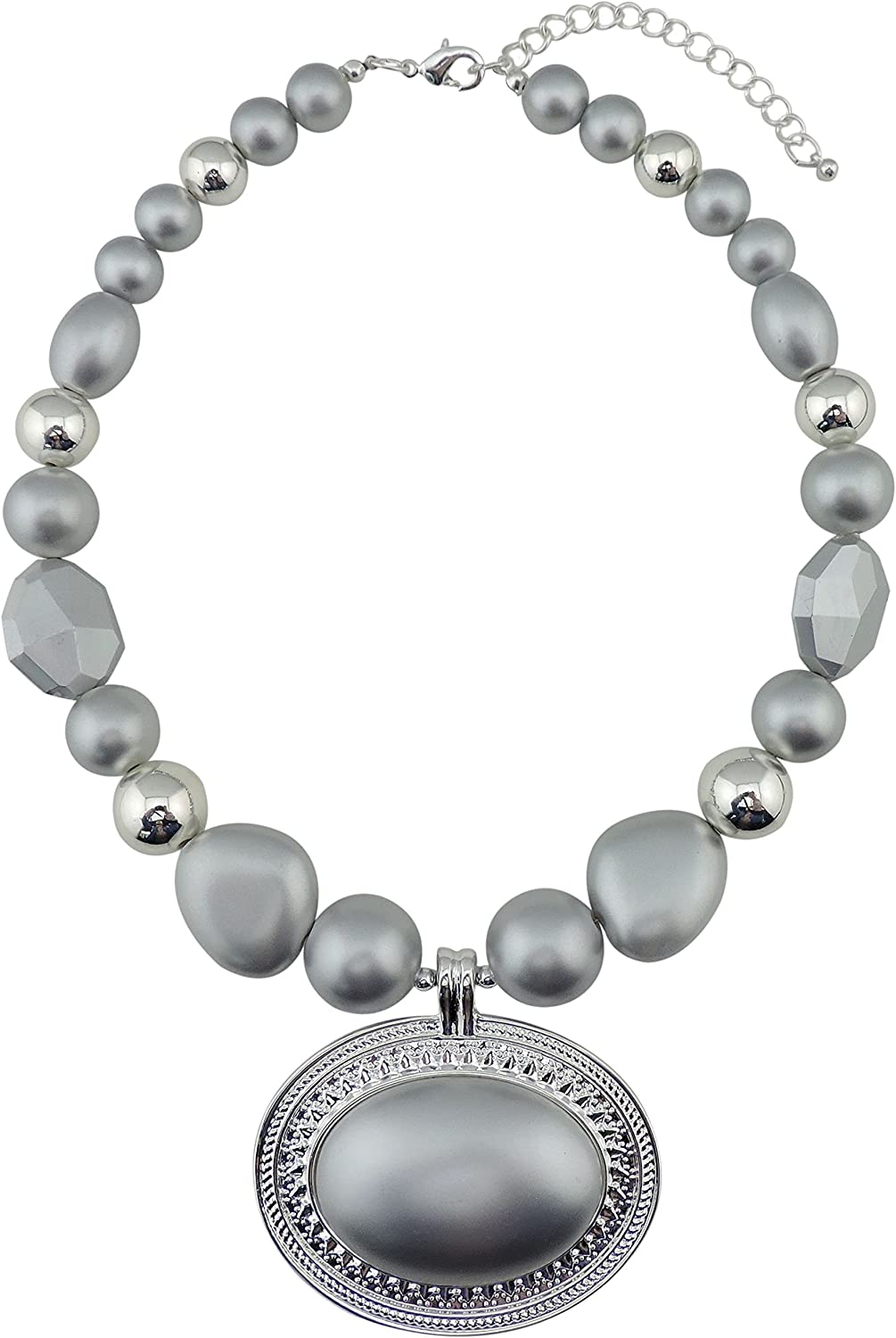 OFFicial store BOCAR Statement Beads Chunky Collar Pendant Necklace Our shop OFFers the best service