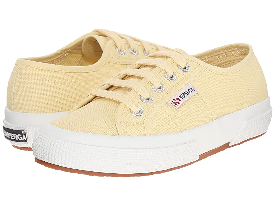 Superga 2750 COTU Classic Sneaker (Pale Yellow) Lace up casual Shoes