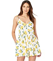 Kate Spade New York - Lemon Beach Cover-Up Flare Romper