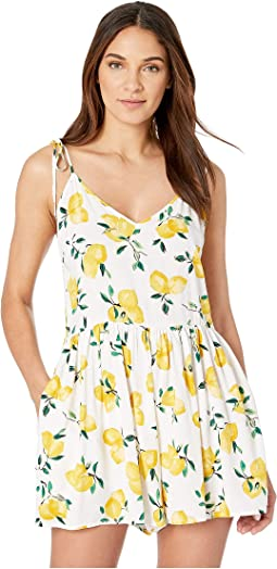 Lemon Beach Cover-Up Flare Romper