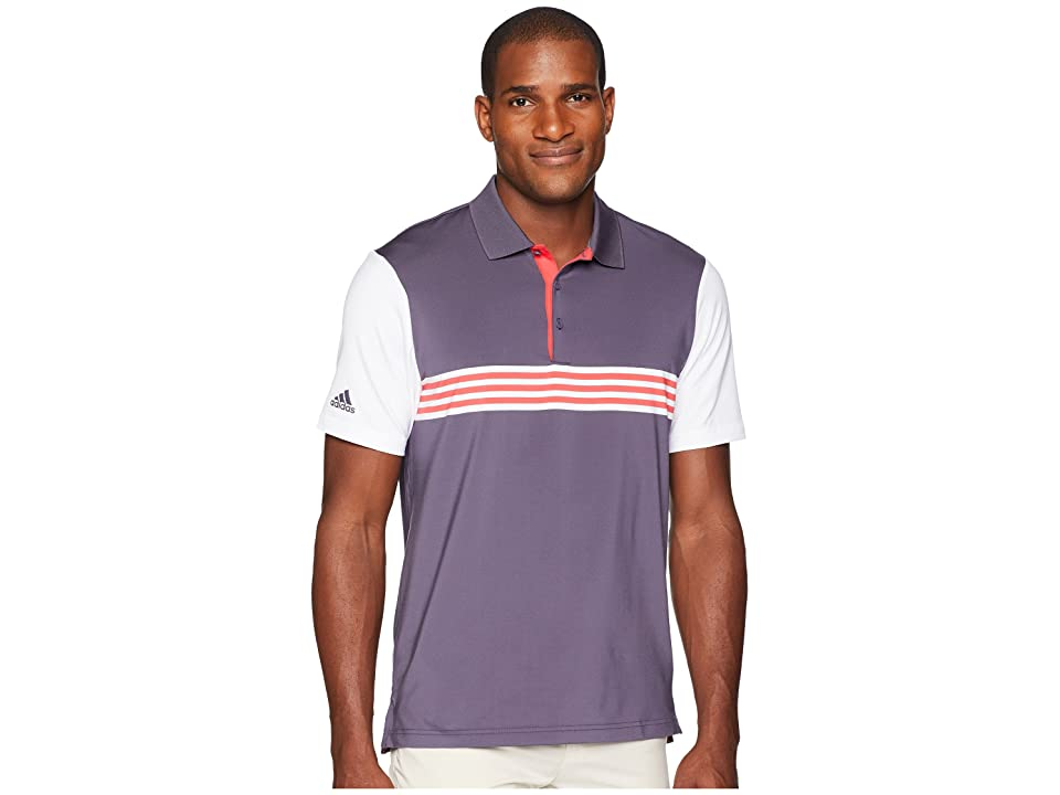 adidas Golf Ultimate Engineered 3-Stripe Polo (Trace Purple/White) Men