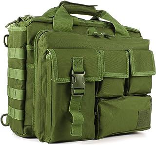 Multifunción Mens al Aire Libre táctico Hombro de Nylon portátil Messenger Bag maletín Bolsos Grandes para 15.6