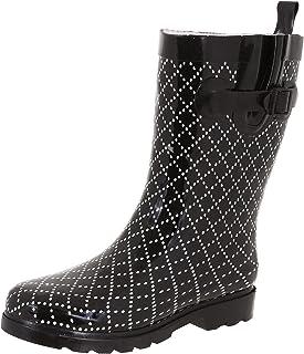 Capelli New York Ladies Shiny Umbrella Mid-Calf Rain Boot