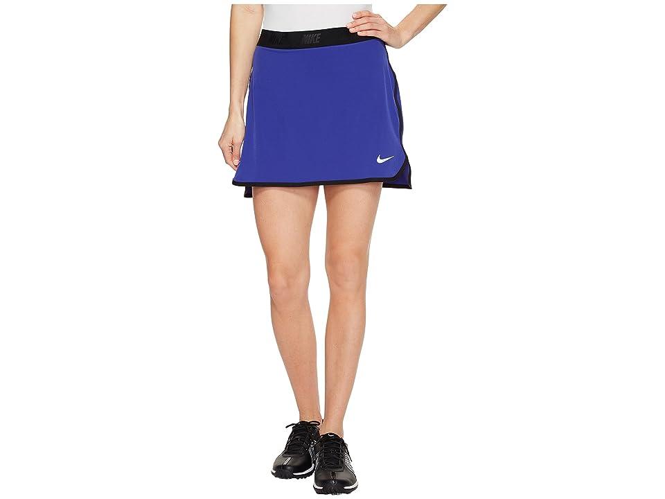 Nike Golf Fringe Flip Skort Solid (Deep Night/Black/Metallic Silver) Women