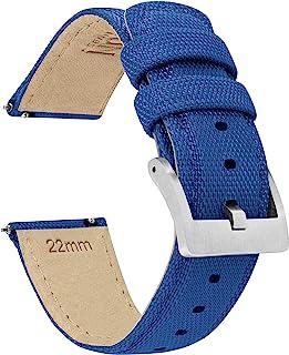 21mm Royal Blue Barton Sailcloth Quick Release Premium Nylon Weave