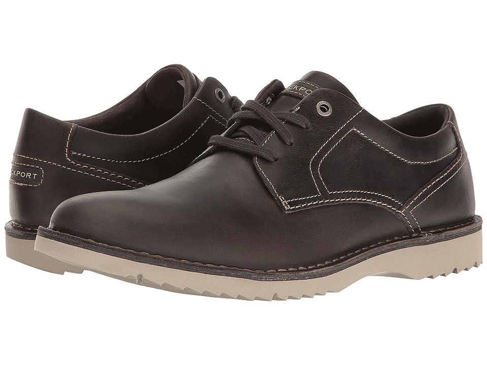 Rockport Cabot Plain Toe (Grey Leather) Men