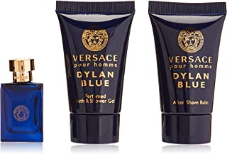 Versace Dylan Blue Eau De Toilette Spray 3 Pieces Set for Men, 3 ml