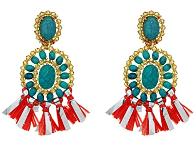 J.Crew Raffi Drop Earrings (Monaco Blue) Earring