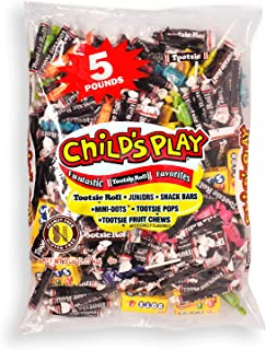Tootsie Roll Child's Play Favorites, Funtastic Candy Variety Mix Bag, Halloween Trick or Treat Bag, Peanut Free, Gluten Free, 5 Pounds