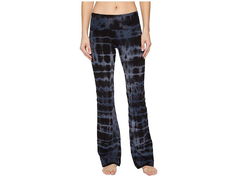 Hard Tail Rolldown Bootleg Flare Pants (Cloud Wash 1) Women