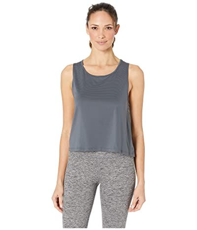 manduka Breeze Crop Top (Charcoal) Women