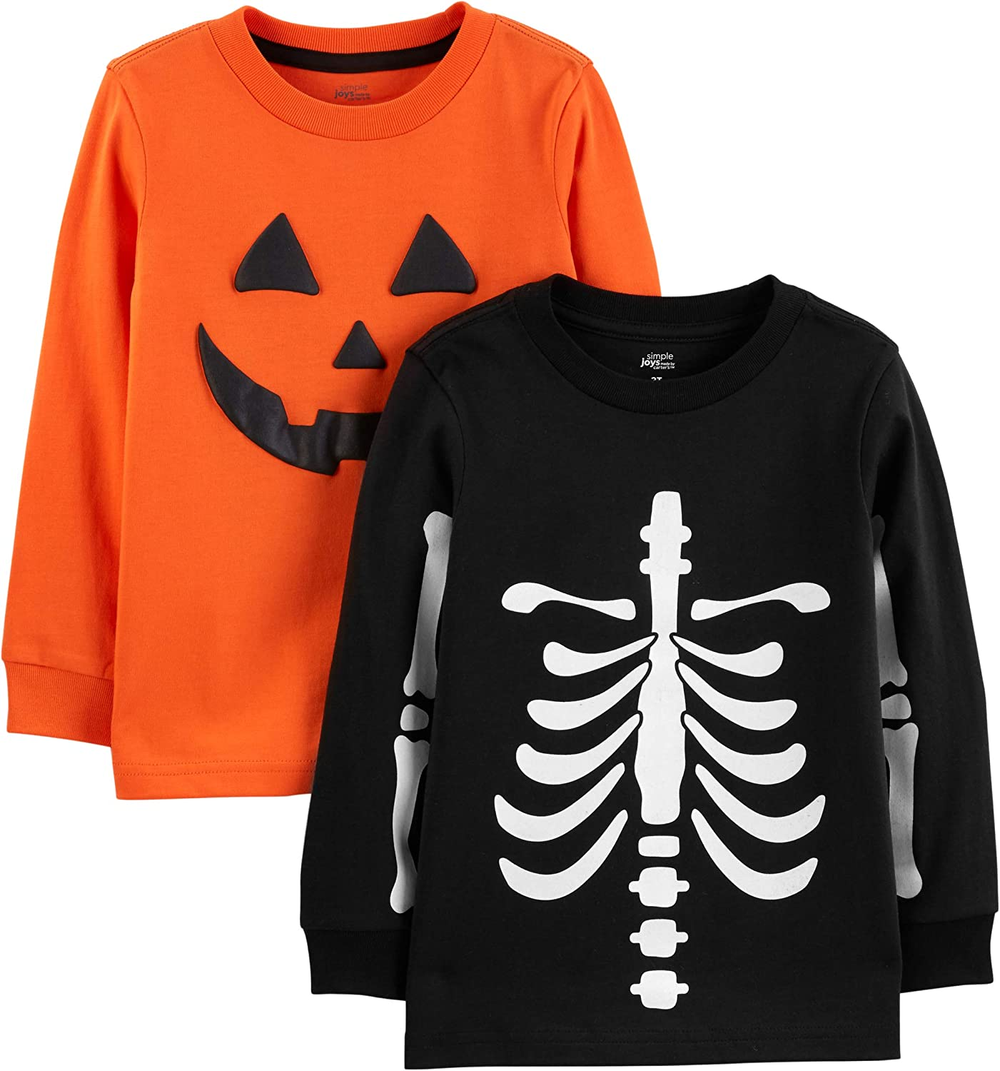Simple free shipping Joys by Carter's Toddler Long-Slee Boys' 2-Pack Detroit Mall Halloween