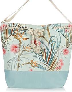 com-four® Große Strandtasche - Moderne Pooltasche für Strandutensilien - Damen-Shopper zum Einkaufen - Umhängetasche für S...