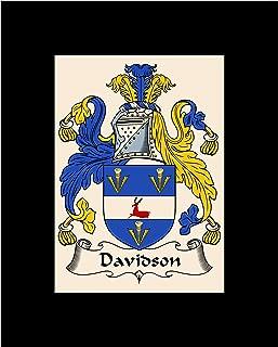 Carpe Diem Designs Davidson Coat of Arms/Davidson Family Crest 8X10 Photo Plaque, Personalized Gift