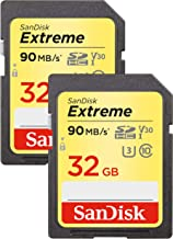 Sandisk Extreme - Flash Memory Card - 32 GB - SDHC UHS-I - Black, Red, White, Yellow
