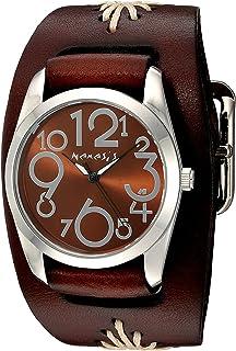 [ネメシス] Nemesis 腕時計 Women's 'Showgirl Series' Quartz Stainless Steel and Leather Automatic Watch, Color:Brown 日本製クォーツ BBF109B 【並行輸入品】