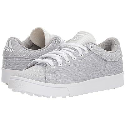 adidas Golf Jr. Adicross Classic (Little Kid/Big Kid) (Light Grey Heather/Footwear White/Semi Frozen Yellow) Golf Shoes