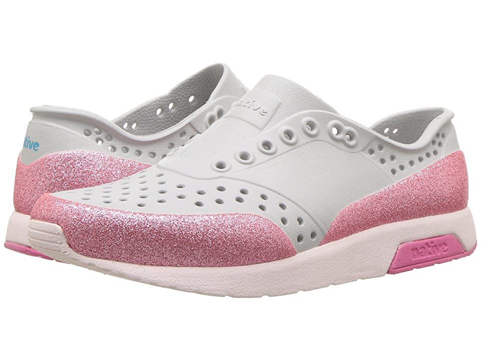 Native Kids Shoes Lennox Glitter (Little Kid) (Mist Grey/Milk Pink/Hollywood Pink/Glitter) Girls Shoes