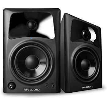 M-Audio AV42 |Pair of Active Desktop Reference Speakers for Media Creation and Immersive Sound Experiences (Black)