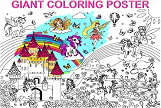 Alex Art, Giant Coloring Poster - Unicorn and Fairy Posters to Color - Perfect Coloring Posters for Kids - Large Coloring ...