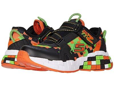 SKECHERS KIDS Sport Mega-Craft Cubotrons (Little Kid/Big Kid) (Black/Orange) Girls Shoes