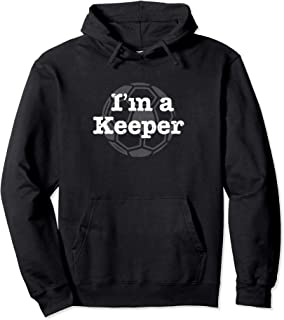Funny Soccer I'm a Keeper Vintage Distressed Pullover Hoodie