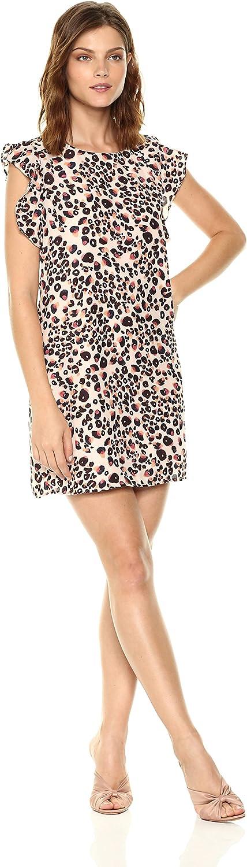 Cupcakes and cashmere Womens Zelene Leopard Print Dress Business Casual Dress