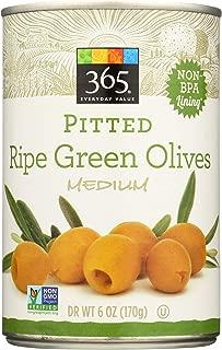 365 Everyday Value, Pitted Ripe Green Olives, Medium, 6 oz
