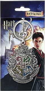 HARRY POTTER Hogwarts School Crest Pewter Keychain