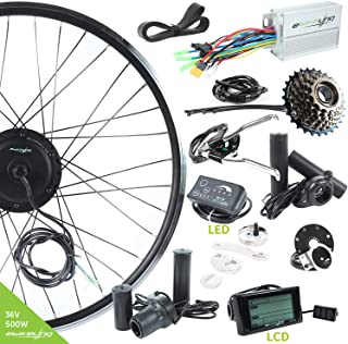 EBIKELING 36V 500W 700C Geared Front Or Rear Electric Bicycle Conversion Kit