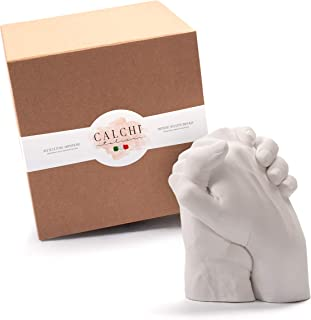 Kit de Moulage Mains pour Couple - Together - Sculptures Artistiques. Idée Cadeau. Emballage Cadeau Complet d'Accessoires,...