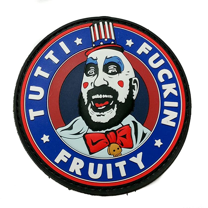 NEO Tactical Gear Captain Spaulding Tutti Fuckin Fruity House of 1000 Corpses The Devils Rejects PVC Rubber Morale Patch, Hook Backed Morale Patch