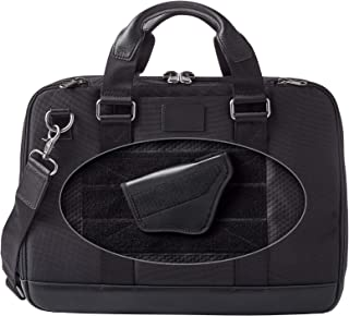 Dalys1895 Concealed Carry Briefcase Travel Bag/Laptop Bag, Leather and 1680 Ballistic Nylon