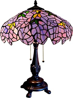 Chloe Lighting CH16828PW16-TL2 Tiffany-Style 2-Light Wisteria Table Lamp with 16
