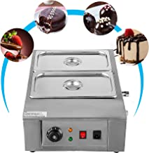 VEVOR 1000W Electric Chocolate Melting Pot Mac for Bakeries Cafes and Fountains Commercial Cocoa Heater Digital Control, 2 Tanks, Silver