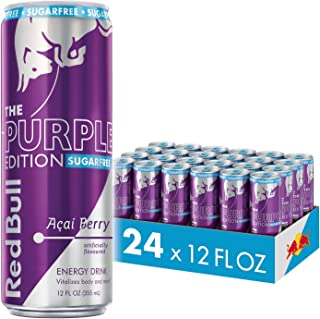Red Bull Energy Drink, Sugar Free Acai Berry, Sugarfree Purple Edition, 12 Fl Oz (24 Count)