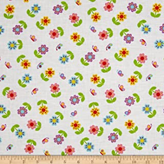 Santee Print Works Multi Flower Power Floral Fabric by The Yard