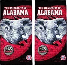 Kaufman Collegiate Collection - University of Alabama Velour Beach Pool Towel 2PKS OR 4PKS - 30IN X 60IN (2)