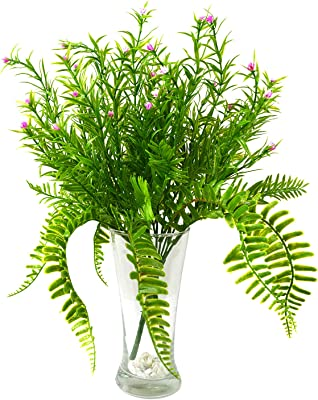 Decorebugs' Pair of Artificial Plant Bunches (Set of 2) Grass Flower -Without Pot(Height 30 cms / 12 inchs)