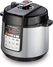 Hamilton Beach 34500 Multi-function Electric Pressure Cooker with Brown/Sauté, Steam and Rice Smart Cooking Presets, 6 quart, Stainless