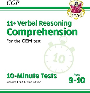 New 11+ CEM 10-Minute Tests: Comprehension - Ages 9-10 (with Online Edition)