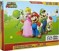 "SUPER MARIO Nintendo Advent Calendar Christmas Holiday Calendar with 17 Articulated 2.5"" Action Figures & 7 Accessories, 2..."
