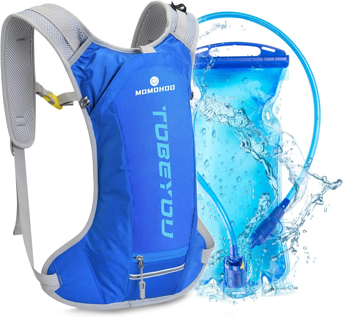 High material MOMOHOO Hydration Backpack Pack Water Max 89% OFF with 2L Bladder