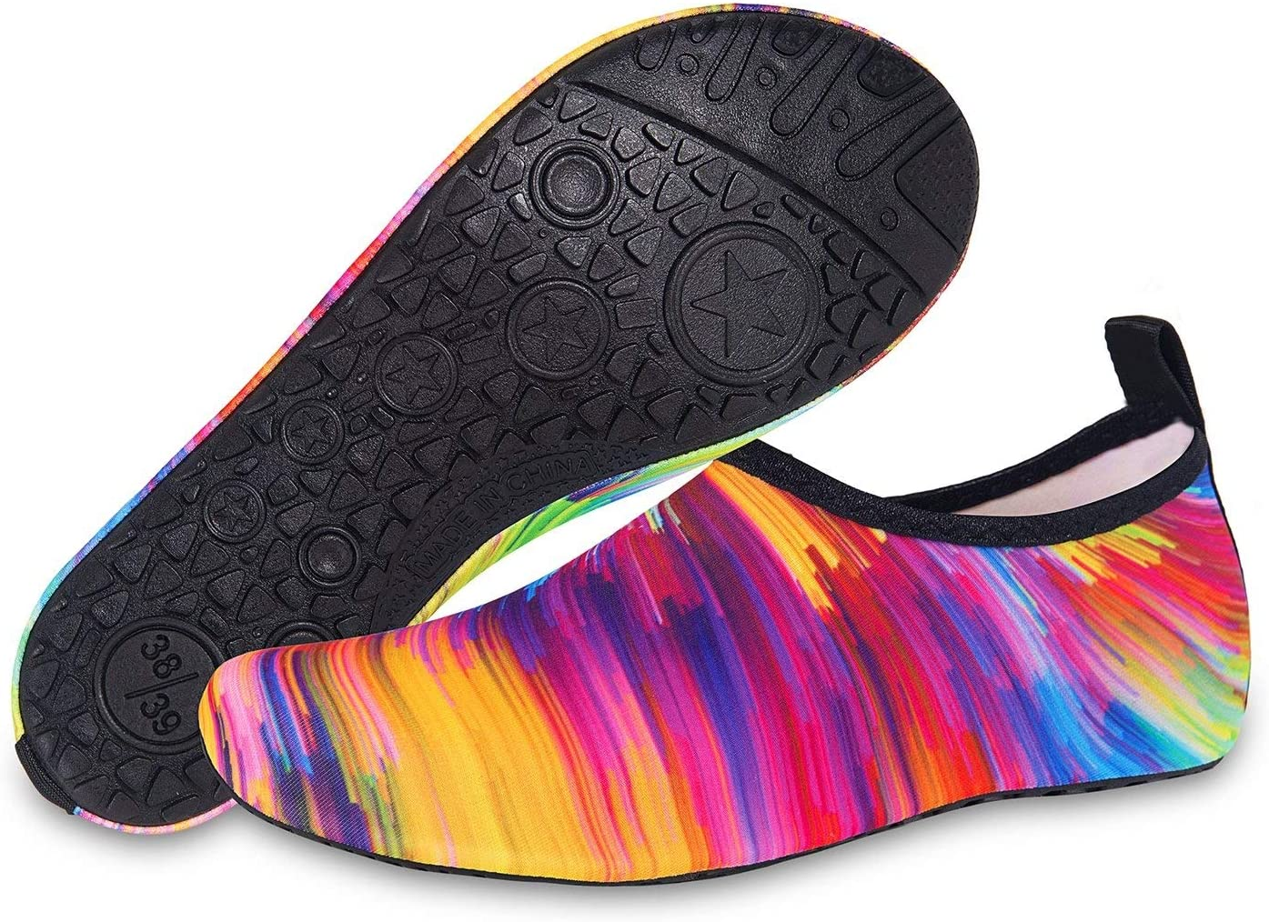 JHCome Womens and Mens Kids Water Shoes Barefoot Beach Pool Shoe