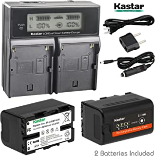 Kastar LCD Dual Fast Charger + 2 Battery for Sony BP-U30, BPU30 and PMW-100, PMW-150, PMW-160, PMW-200, PMW-300, PMW-EX1, EX3, PMW-EX160, PMW-EX260, PMW-EX280, PMW-F3, PXW-FS5, PXW-FS7, PXW-FX9K