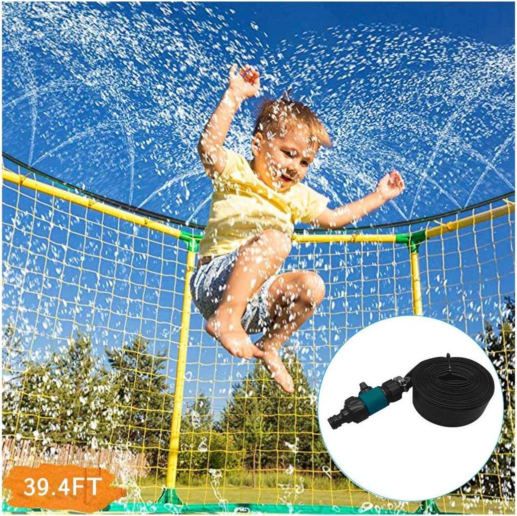 Wouke Trampoline Spring new work one after another Sprinklers Outdoor overseas Ki for Water Play