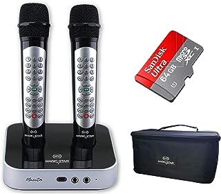 MAGIC STAR Maestro 2 Wireless Karaoke Microphones - Black (Pack of1)